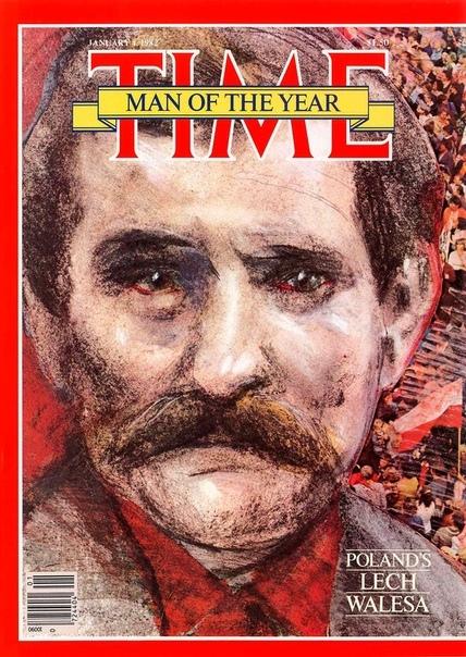 """Пятьдесят четвертым """"человеком года по версии журнала TIME"""" стал Лех Валенса."""