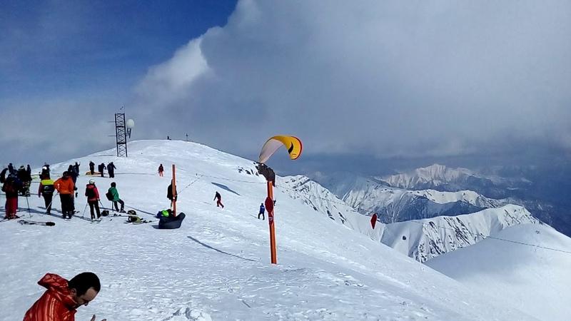 Путешествие по Грузии, грузия до запрета, Гудаури горные лыжи и парапланы 2019, горнолыжные курорты.
