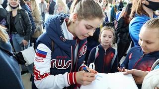 Короли льда. Фигуристов, победивших на чемпионате мира, встретили в Москве
