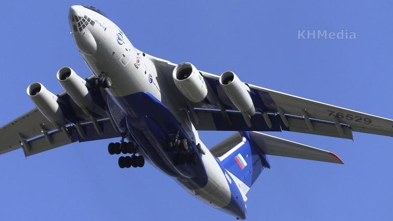 полёт Ил-76ЛЛ с ПД-14 Лии им Громова 2019 Раменское 76529