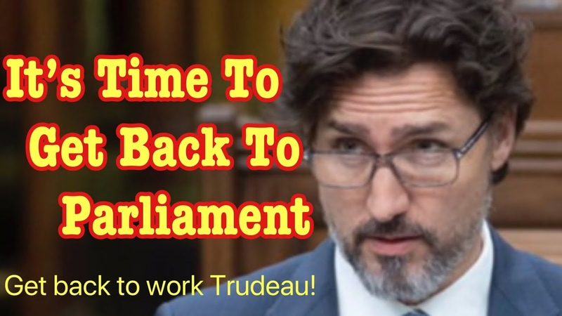Justin Trudeau it s time to get back to work