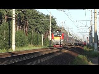 Электровоз ЭП20-038 (ТЧЭ-6) со скорым поездом №042Ч Великий Новгород - Нижний Новгород.