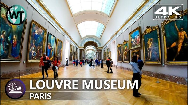 4K Virtual Tour Inside Louvre Museum Paris Mona Lisa Part 1 France