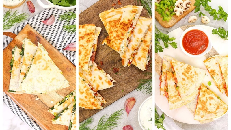 3 Easy Quesadilla Recipes | 15 Minute Dinner Ideas