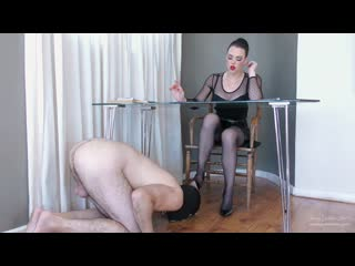 Young goddess kim shoe slave gets fed