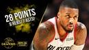 Damian Lillard Full Highlights 2019.10.28 Blazers vs Spurs - 28 Pts, 9 Rebs, 7 Asts!   FreeDawkins