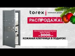 Купи металлическую дверь в фирменном салоне Торекс - получи скидку и подарок!