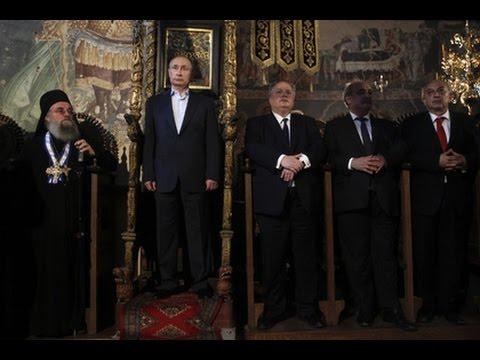 Владимир Путин на Афоне занял трон византийский императоров