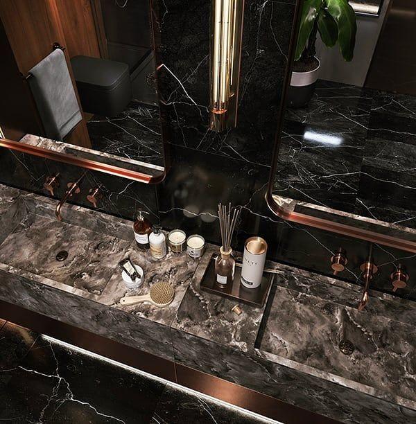 Design Black Bathroom Spotless Creative Group