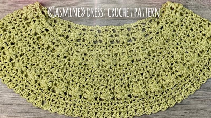 ПЛАТЬЕ КРЮЧКОМ JASMINE МАСТЕР КЛАСС HOW TO CROCHET BEAUTIFUL DRESS