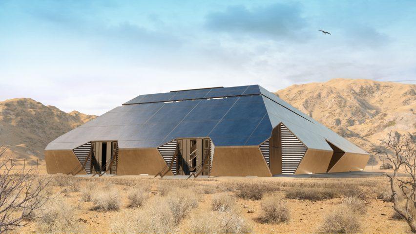 Cyberhouse - дом для владельца Cybertruck, выжившего после зомбиапокалипсиса, от русской студии Modern House Architecture
