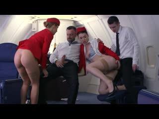 Dorcel Airlines - indecent flight attendants (Elena Koshka, Mariska X, Alexis Crystal, Ella Hughes, Misha Cross)