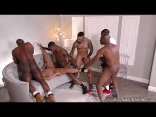 Skylar Snow - Group Sex Gangbang Blowbang IR Hardcore Big Natural Tits Ass Black Cock Dick BBC Redhead Deepthroat Rimjob Porn