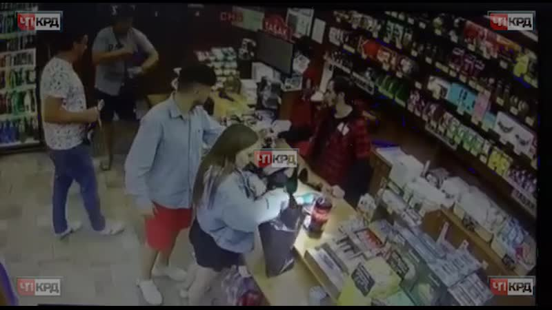 На данном видео молодая пара, 16.09 ворует бутылку вина в пос. Краснодарском, в магазине КБ.