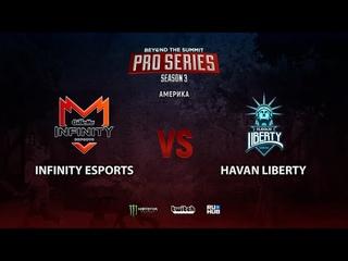 Infinity Esports vs Havan Liberty, BTS Pro Series Season 3: Americas, bo2, game 2 [Smile & Eiritel]