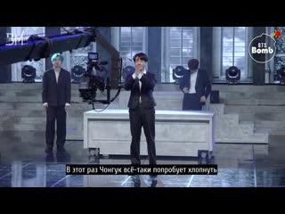 [rus sub][bangtan bomb] jk & v experienced a new job! bts