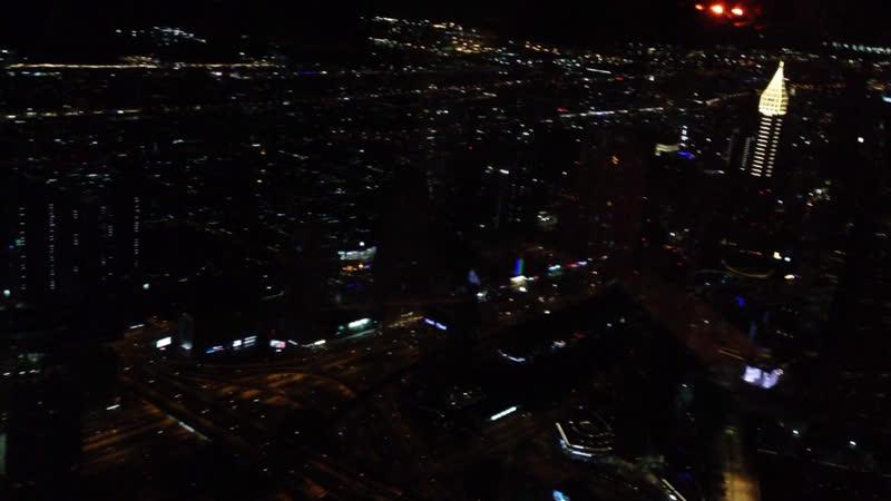 Дубаи с высоты Бурдж Халиф ноябрь 2019