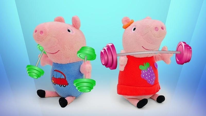 Exercícios com a Peppa O treinamento da Peppa Pig e George Peppa Pig e sua família em português