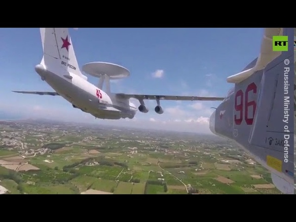 Russian pilots fly over Syria in V-Day parade [GoPro3 footage]