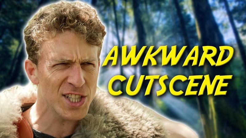 When the cut scene timing is terrible Awkward Cutscene