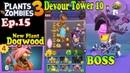 Plants vs. Zombies 3 - New Dogwood - Dr. Zomboss - Devour Tower 10 (Ep.15)