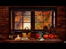 Cozy Autumn Nook Ambience   ASMR Ambience (Rain on Window, Wind Chimes, Tea pouring) for relaxing 🍂