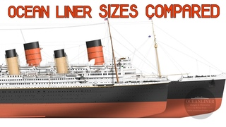 Ocean Liner Sizes COMPARED