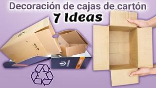 7 Ideas geniales para decorar cajas de cartón / Ideas para el hogar
