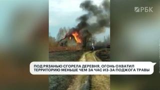 Сгоревшая деревня и огонь на площади 6 гектаров: пожары из-за пала травы охватили Россию