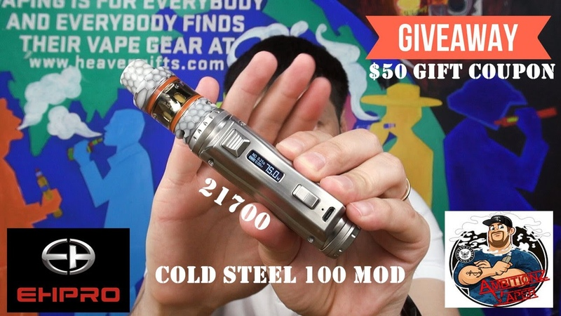 Unboxing Ehpro Cold Steel 100 TC mod by AmbitionZ VapeR | $50 gift coupon code giveaway