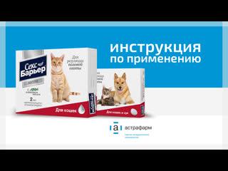 Капли и таблетки СЕКС БАРЬЕР для кошек. Инструкция по применению