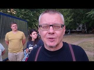 Конфликт между жильцами и рабочими в Кузьминках на улице Юных Ленинцев, 45