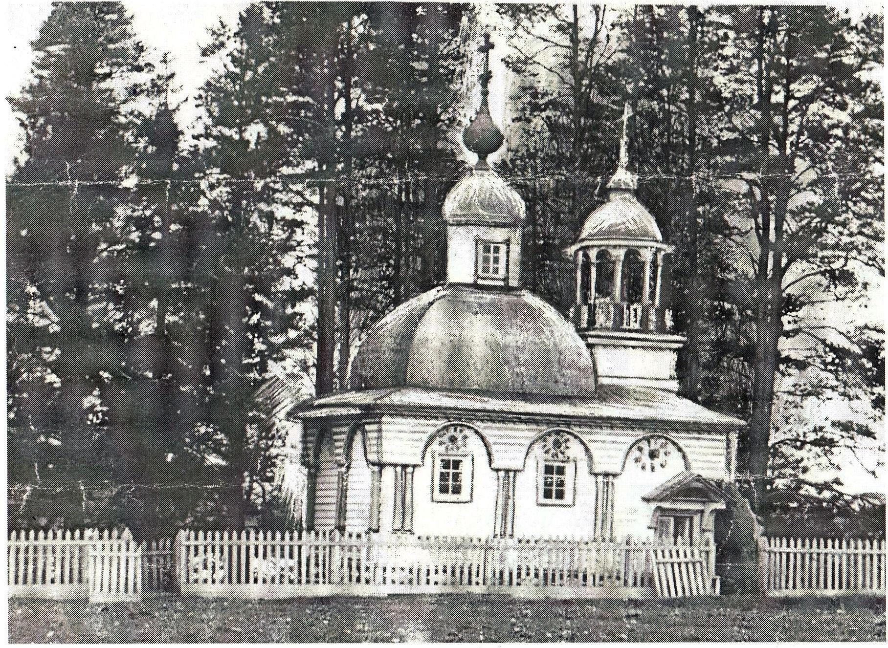 Воздвиженская часовня в деревне Заважерец Коношского района