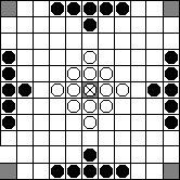 Skalk Хнефатафл (Тавлеи) - расстановка 11х11