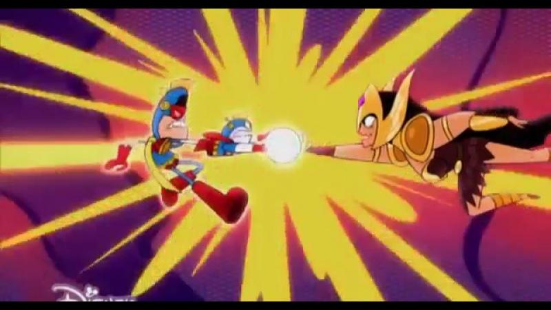 Капитан Атомик Atomic Puppet 1 сезон 22 серия Подмена Возвращение Лейсера Русский дубляж Дисней