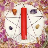 Красная ритуальная магическая свеча