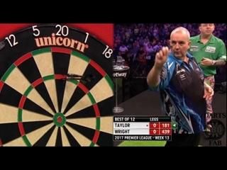 Phil Taylor vs Peter Wright (2017 Premier League Darts / Week 13)