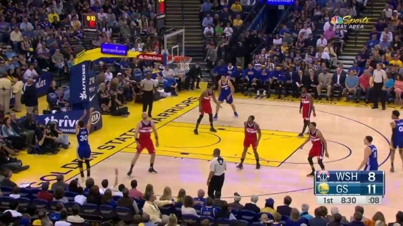 Stephen Curry FAKES OUT Marcin Gortat