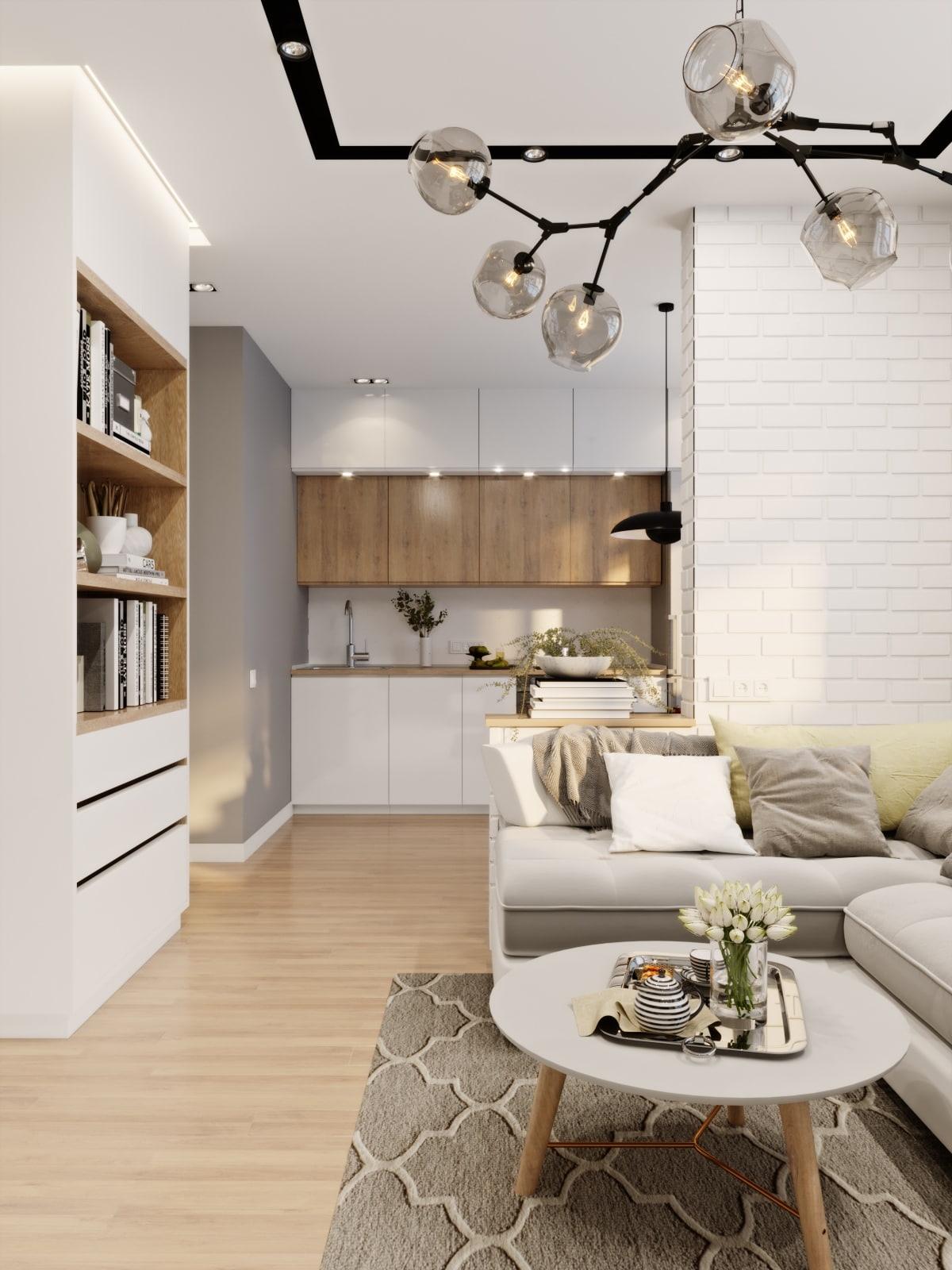 Дизайн-проект квартиры 40 м2 для молодой девушки.