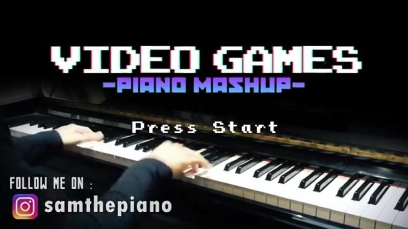 Video Games Piano MashupMedley (Piano Cover) including Sonic, Mario, Zelda, Halo and more...