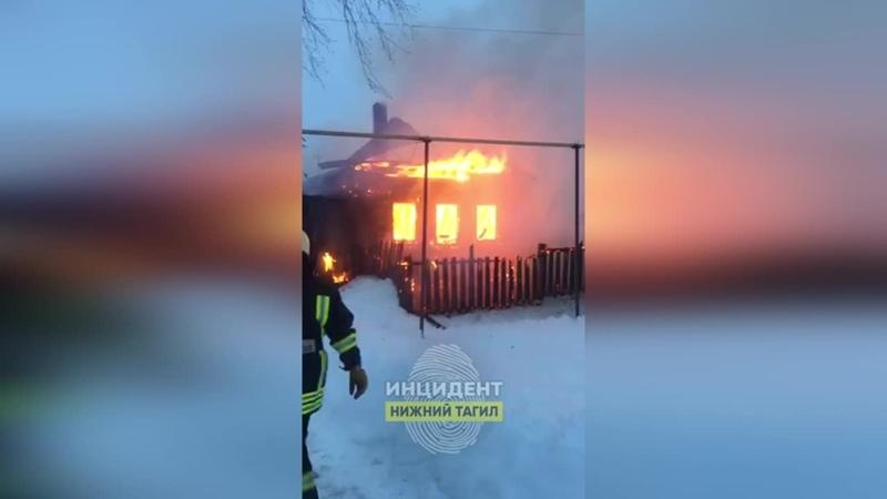 Пожар в Большой Лае 30 01 2021г
