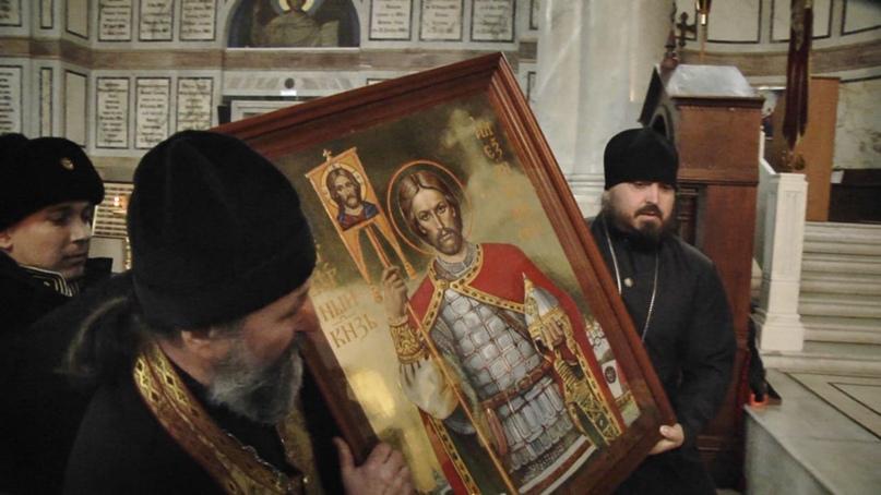 В Севастополь прибыла икона святого благоверного князя Александра Невского