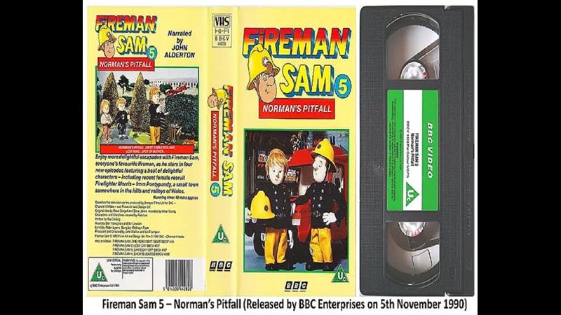 Fireman Sam 5 BBCV 4428 Fireman Sam 6 BBCV 4470 The Very Best of Fireman Sam BBCV 4870 1990 92 UK VHS