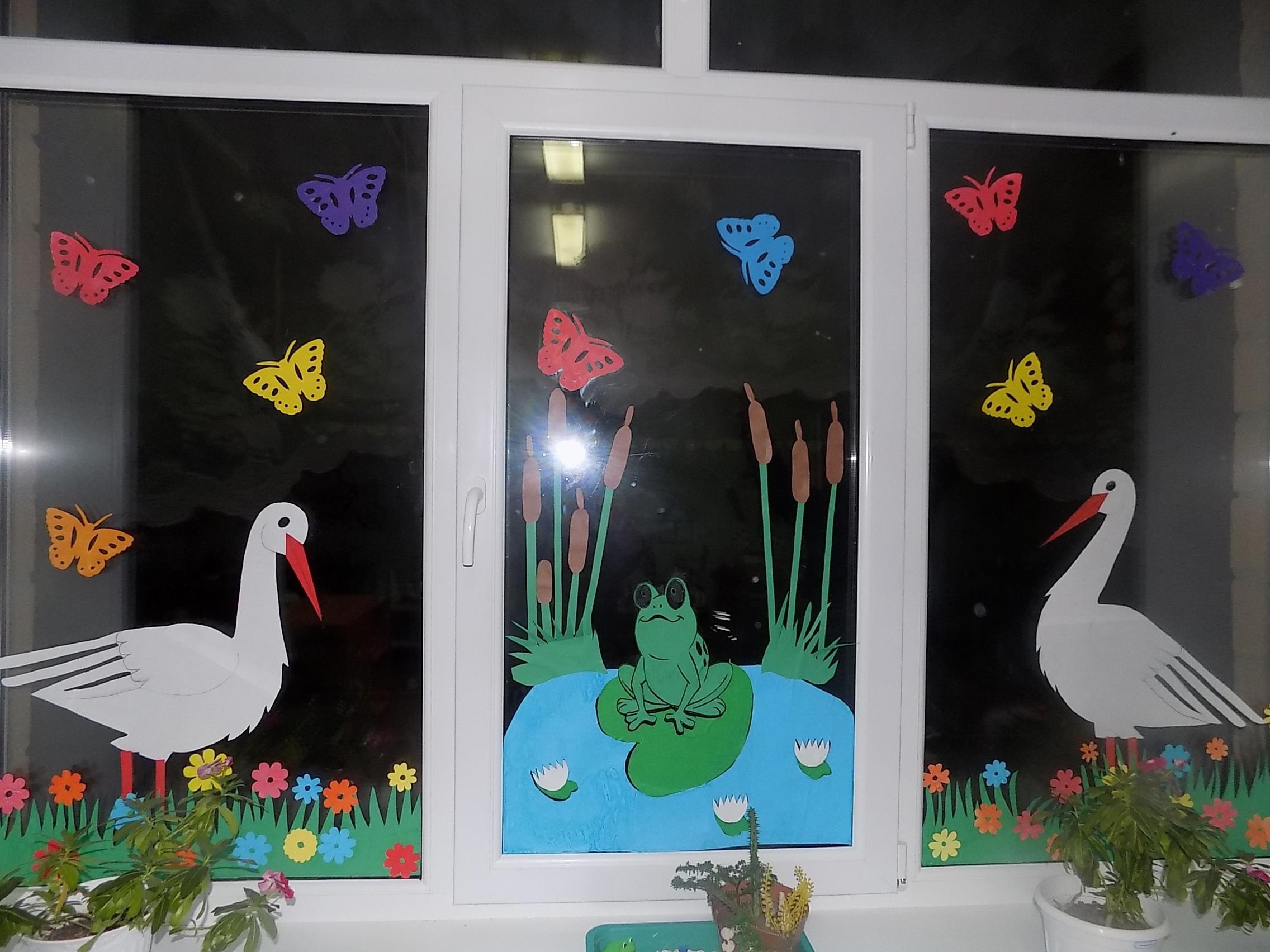 Смотрите, как красиво украсили окна в Можгинском