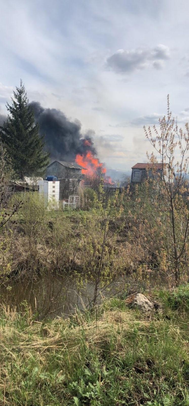 пожар в СНТ Кама в Челнах