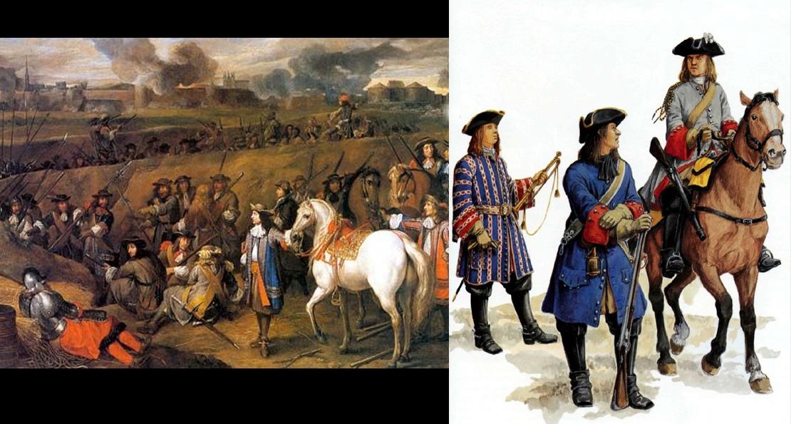 Французские солдаты Людовика XIV