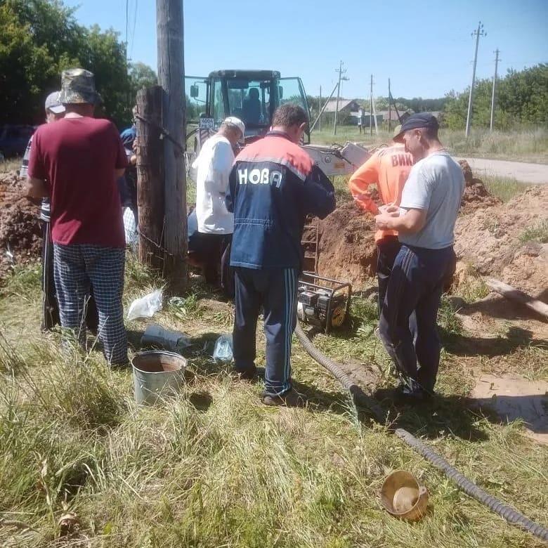 В селе Ножкино начались ремонтные работы водопроводной сети