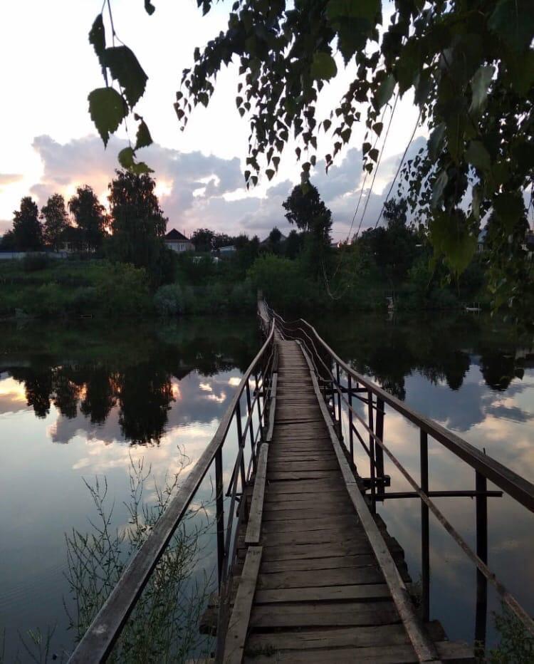 Мост в селе Большая Уча. Правда, красиво?Спокойной