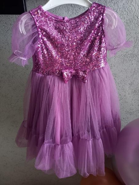 Продаю шикарное праздничное платье на девочку 86 р...