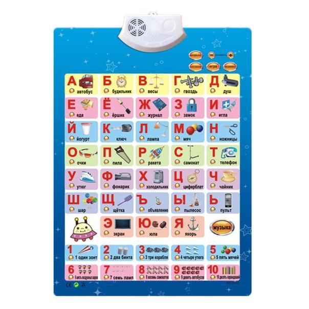 Русская музыка Алфавит говорящий плакат Россия Дети образования игрушки электронные ABC